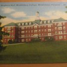 Vintage Hepburn Hall Middlebury College Middlebury Vermont Postcard