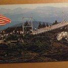 Vintage Mile High Swinging Bridge NC Postcard