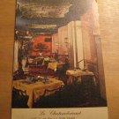 Vintage Le Chateaubriand Restaurant At La Salle Hotel Chicago Illinois Postcard