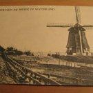 Vintage Watermolen BIJ Broek In Waterland Holland Postcard