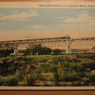 Vintage Rock Island Bridge Over Cimarron River Liberal Kansas Postcard