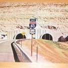 Vintage Twin Tunnels Between Atlantic Ocean & Sierra Nevada Mountains Postcard