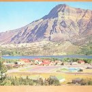 Vintage Waterton Lake Townsite Mt Vimy Background Canada Postcard
