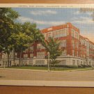 Vintage Central High School Kalamazoo Michigan Postcard