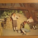 Vintage Jamestown Virginia Glass Blowers Postcard