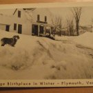 Vintage Coolidge Birthplace In Winter Plymouth Vermont Postcard