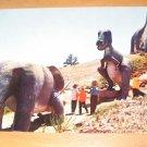 Vintage Dinosaur On Skyline Drive Rapid City South Dakota Postcard