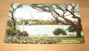 Vintage Oakland California Lake Merritt Postcard