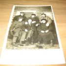 Vintage 6 Men Posing In Log Cabin Photo Postcard