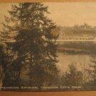 Vintage Suspension Bridge Oregon City, Oregon Postcard