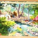 Vintage Grist Mill At Entrance Rock City Gardens Postcard