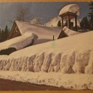 Vintage Winter At Johnsville California Postcard