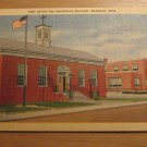 Vintage Post Office And Makepeace Building Wareham Massachusetts Postcard
