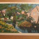 Vintage The Old Mill Sandwich Cape Cod Massachusetts Postcard