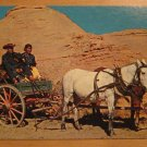 Vintage Navajo Indian Family In Their Wagon New Mexico Postcard