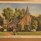 Vintage Little Church Of The Flowers Glendale CA Postcard