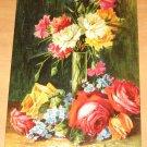 Vintage Vase With Flowers Painting By Artist H Schneider Postcard