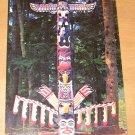 Vintage Totem Pole Capliano Suspension Bridge Vancouver Canada Postcard