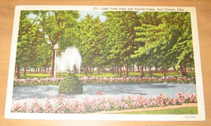 Vintage Lake View Park And Tourist Camp Port Clinton Ohio Postcard
