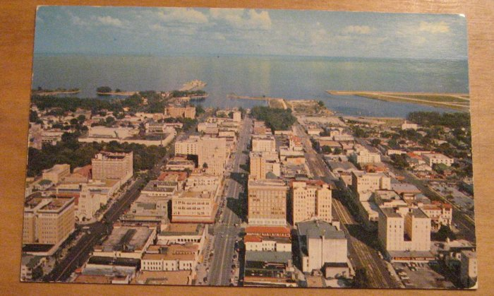 Vintage Airview St Petersburg Florida Postcard