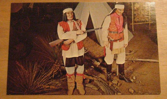 Vintage Cochise And Geronimo Apache Indians Postcard