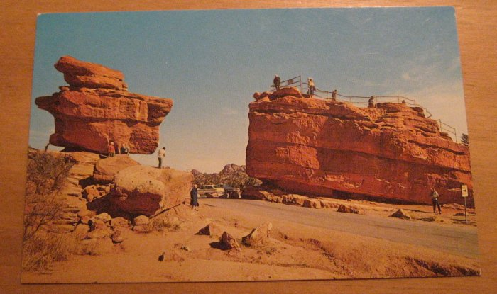 Vintage Balanced Rock And Steamboat Rock Colorado Postcard