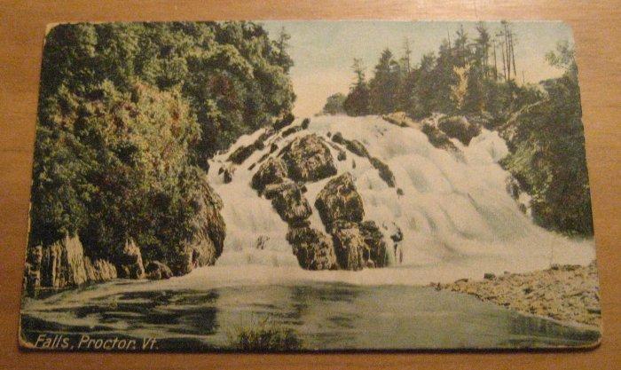 Vintage Falls Proctor Vermont Postcard