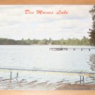Vintage Des Moines Lake Wisconsin Postcard