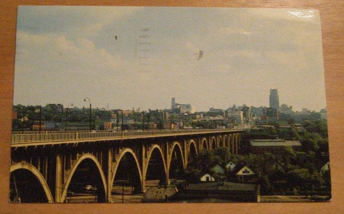 Vintage View Of The Viaduct Akron Ohio Postcard