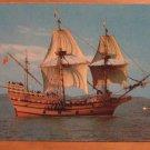 Vintage Mayflower II Ship Plimoth Plantation Plymouth Mass Postcard