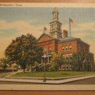 Vintage City Hall Willimantic Connecticut Postcard