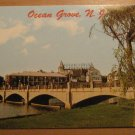 Vintage Ocean Grove New Jersey Wesley Lake Bridge Postcard