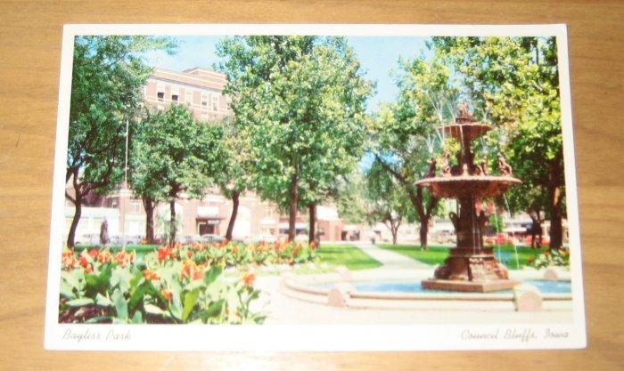 Vintage Bayliss Park Council Bluffs, Iowa Postcard