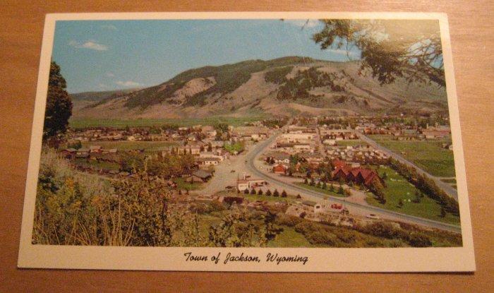Vintage Town Of Jackson Wyoming Postcard