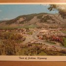 Vintage Town Of Jackson Wyoming Postcard