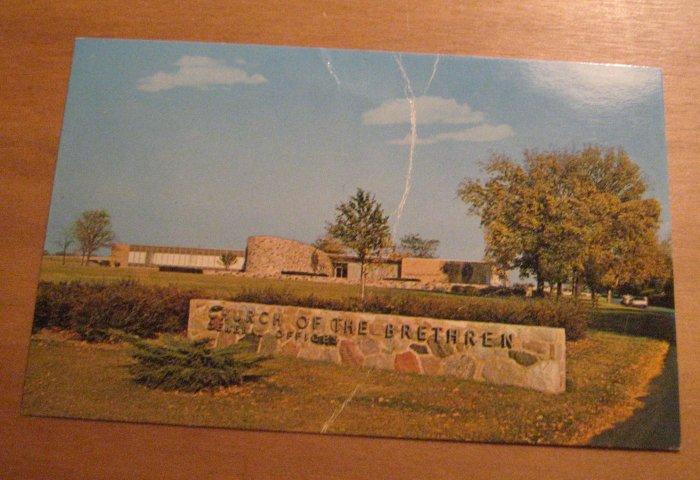 Vintage Church Of The Brethren General Offices Elgin Illinois Postcard
