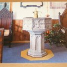 Vintage St Peters Church St Georges Bermuda The Font Postcard