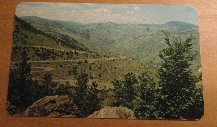 Vintage Lariat Trail From Wildcat Point Postcard