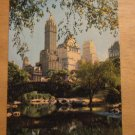 Vintage Central Park And Fifth Ave Hotels New York Postcard