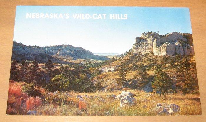 Vintage Nebraska's Wildcat Hills Scottsbluff Nebraska Postcard