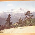 Vintage Snow Covered Pikes Peak Colorado Springs Colorado Postcard
