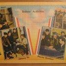 Vintage Indoor Activities Military Postcard