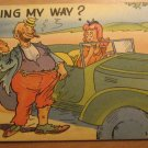 Vintage Going My Way Comedy Postcard