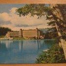 Vintage Chateau Lake House Banff National Park Canadian Rockies Postcard