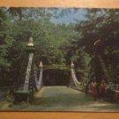 Vintage Suspension Bridge Millcreek Park Youngstown Ohio Postcard