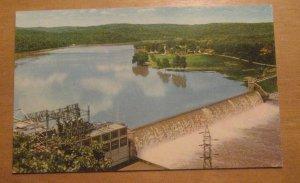 Vintage Powersite Dam Lake Taneycomo Missouri Ozarks Postcard