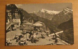 Vintage Schynige Platte Wetterhorn Schreckhorn Postcard