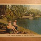 Vintage Mirror Lake Downtown St Petersburg Florida Postcard