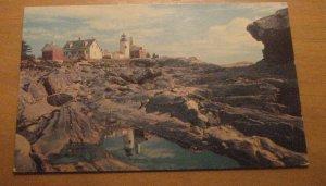Vintage At Pemaquid Point Maine Postcard