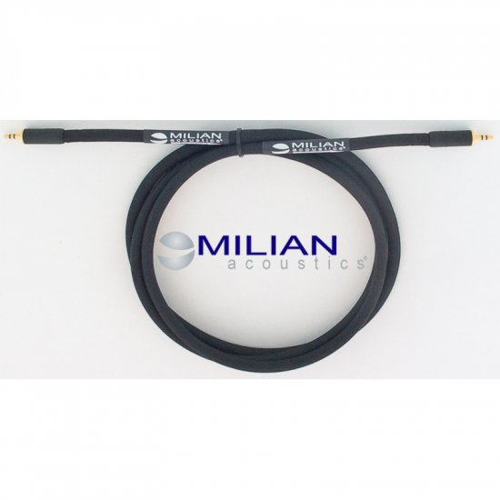 Milian Acoustics 3 Ft. 3.5mm Mini Plug OFC Headphone Amplifier Interconnect Cable